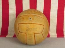 Vintage 1960s Regent Leather Soccer Ball Tiger T Panel Hand Sewn Football Sz.5