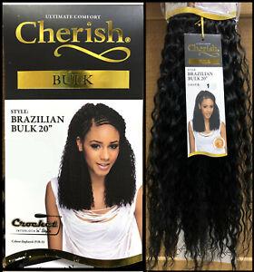 "Cherish Brazilian Bulk 20"" Synthetic Crochet Braid Curly Hair Extensions"
