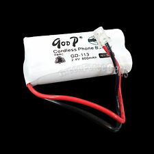 Cordless Phone Replacement Battery GD-113 2.4V Volt 800mAh NiMH