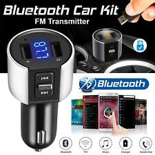 USB Car Bluetooth FM Transmitter Wireless Radio Adapter Charger + MP3 Player