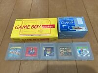 GameBoy Pocket console Yellow Color with BOX and Manual  2