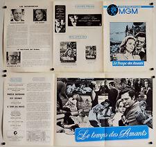 LE TEMPS DES AMANTS-1968-DE SICA-MASTROIANI-DUNAWAY- Dossier de presse
