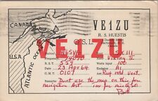Vintage HAM QSL Radio Cards VE1ZU Dartmouth, N.S. Canada Used Posted