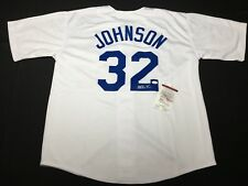 Magic Johnson Signed Los Angeles Dodgers Baseball Jersey *Lakers JSA WP240179