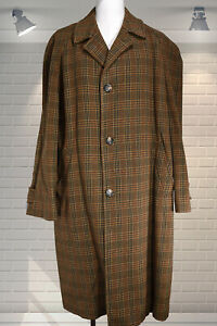 EXCELLENT Original 1950s Vintage Tweed Overcoat AJ STREFFORD by PYTCHLEY - M/L
