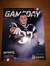 New England Patriots vs Los Angeles Chargers 10/29/17 Gillette Stadium Program