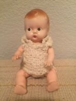 """Vintage 1950s  Irwin Type Side Glancing HP  7.5"""" Very Cute Baby Doll"""