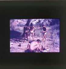 1950's NUDIST OUTDOORS NUDE GIRLS + MALES ORIGINAL 35mm PHOTO SLIDE NU-067