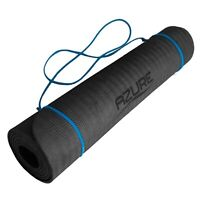 Azure TPE Yoga Mat Gym Exercise Pilates Stretching Fitness Workout with Strap