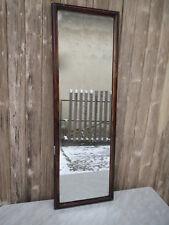 Ancien miroir glace bois platre glace mercure french antique mirror