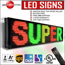 """LED SUPER STORE: 3COL/RGY/IR 19x102"""" Programmable Scrolling EMC Display MSG Sign"""