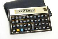 Hewlett Packard HP 12C Financial Calculator Gold With Case Works! - w/ Batteries