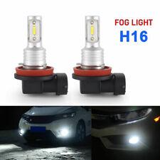 PAIR H11 H16 LED Fog Lights Bulbs Conversion Kit 6000K White Cree High Power 55W