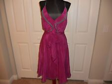 NWT ANTHROPOLOGIE GIRLS FROM SAVOY GULL WING DRESS PLUM/PRUNE COMBO SIZE 2
