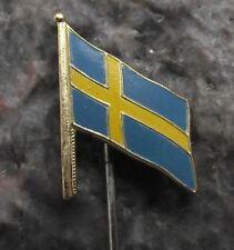 Swedish National Flag of Sweden Scandinavian Nordic Cross Tourist Pin Badge
