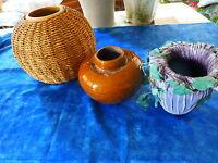 lot vases  ceramique vernissée  pour vos bouquets de fleurs