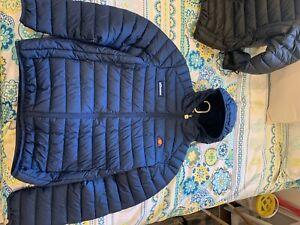 BNWOT Ellesse Lombardy Puffer Padded Jacket Navy Blue Size L RRP$150