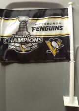 Pittsburgh Penguins 2016 Stanley Cup Champions Car Flag