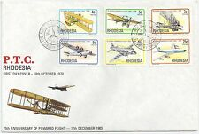 Rhodesia  1978 75th Avvinversary of Powered Flight FDC.