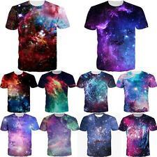 Galaxy Space Nebula 3D Print T-shirt Women Men Short Sleeve Punk Tee Tops Blouse