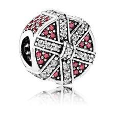 Original Pandora Charm Sparkling Gift Red Silver Bead Jewelry 792006CZR