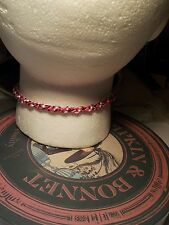 Pink red  KUMIHIMO CHOKER/NECKLACE  SILVER COLOUR CLASP