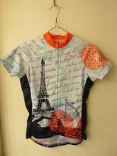 Primal Full-Zip Bike Jersey Eiffel Tower / Penny Farthing Women's Sz Xs