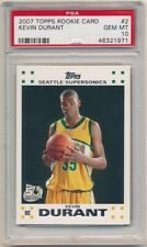 KEVIN DURANT 2007/08 TOPPS #2 RC ROOKIE CARD SONICS NETS SP PSA 10 GEM MINT