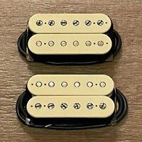 Vintage 90s Dimarzio DP103 PAF Humbucker Set Guitar Pickup Cream Neck Bridge