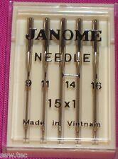 Janome Nähmaschine Nadeln Mix Größe passend für alle Standard Nähen Maschinen