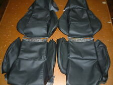 1984-1988 Black Perforated Leather C4 Corvette Covers