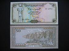 YEMEN ARAB REPUBLIC  50 Rials Signature 9  (P27A)  UNC