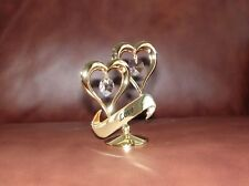 Love~Hearts~ 24K Gold Plated Figurine With Best~*~Austrian Crystals~*~ ~New