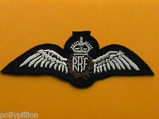 MILITARY FANCY DRESS SEW ON / IRON ON PATCH:- THE ROYAL AIR FORCE R.A.F. WINGS
