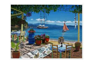 Skiathos Taverna Sklithri 2 Giclee limited edition print