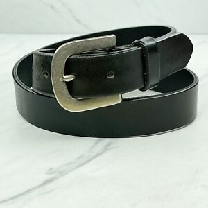 Old Navy Vintage Black Genuine Italian Leather Belt Size 32 Made in USA