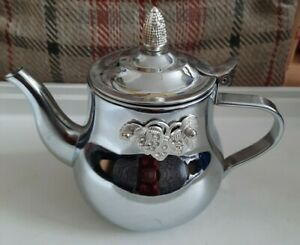 Stainless Steel small Tea Pot Rare with crystals