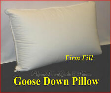 EXTRA FIRM 95% GOOSE DOWN STANDARD PILLOW 100% COTTON CASING