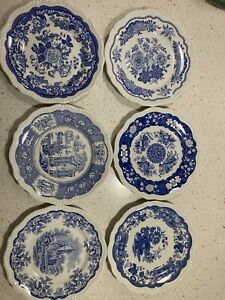 Spode Blue Room Collection Six Collectable Plates
