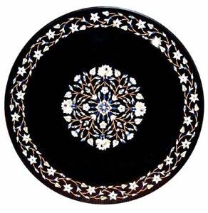 """30"""" marble center coffee Table Top Pietra Dura floral inlay Home Garden decor"""