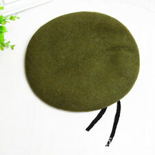 Unisex Military Army Soldier Hat Mens Womens Wool Beret Uniform Casual Warm Cap
