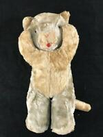 Vintage Stuffed Cat 13″x 7″ Much-Loved Blonde Vintage Kitty Tan Brown Soft Furry