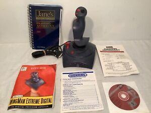 Logitech Wingman Extreme Digital 3D Joystick w/ Original Disk + Jane's Anthology