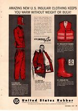 1957 United States US Rubber Insulair Outdoor wear Hunting Vintage Print Ad