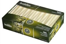 BOLSIUS BOX OF 100 IVORY NON-DRIP TAPERED CANDLES, 7.5Hr BURN TIME!