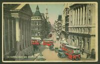 The Mansion House & Cheapside, London - Vintage Tinted Postcard