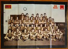1976 Hawthorn Hawks Team Photo large fold out poster Premiership Year Premiers