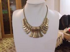 Cleopatra style statement necklace Brand new large matt gold
