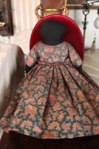"Vintage Hand Crafted Black Americana Cloth Rag Doll 16""  ARTIST TRISH WARREN"