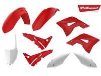Kit plastique POLISPORT restylé (blanc / rouge) Honda CR 250 2002 à 2007